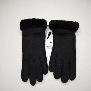 UGG  WOMEN'S SEAMED TECH GLOVES BLACK SIZE LARGE